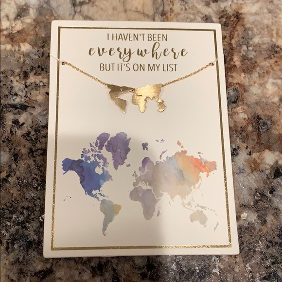 Francesca's Collections Jewelry - Map of the world necklace